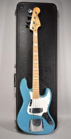 1978 Fender Jazz Bass Maui Blue International Series Vintage Bass Guitar w/OHSC Bass Guitar Chords, Guitar Tabs Songs, Bass Guitar Lessons, Guitar Strings, Guitar Scales, Vintage Bass Guitars, Bass Guitars For Sale, Cheap Guitars, Fender Telecaster