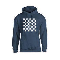 Just Breathe Chess board pattern Hoodie