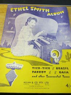 ETHEL SMITHY ALBUM ALLAN & CO. PTY LTD. 9 SONGS BOOK 1939 9 Songs, Music Books, Album, Ebay, Musik, Card Book