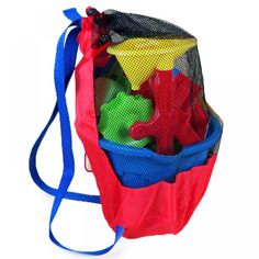 Pool & Water Fun Toys - Portable Baby Sea Storage Mesh Bags for Children Kids Beach Sand Toys Net Bag Water Fun Sports Bathroom Clothes Towels Backpacks Backpack Storage, Toy Storage Bags, Sports Bathroom, Toy Net, Kids Bath Toys, Beach Backpack, Sand Toys, Beach Toys, Net Bag