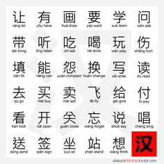 common verbs in Chinese. I already know this but still... helpful.