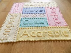 Precious Baby Blanket Crochet PATTERN by par PeachUnicornCrochet