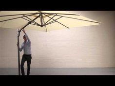 Solero® Cielo Plus hanging parasol Modern, Trendy Tree