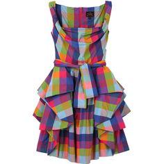 Vivienne Westwood Anglomania Taffeta Check Sunday Bale Dress found on Polyvore