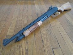 Mossberg 590 retro-style trench gun. That's way cool.
