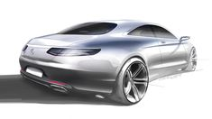 2015 Mercedes S Class Coupe design sketch 3