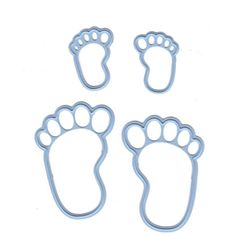 Marianne Design: Creatables Dies - Feet-Creatables Die - Feet 2 sets of footprints. Great for baby cards. Size:Large footprints 1 x 1 footprints x Paper Craft Supplies, Scrapbook Supplies, Paper Crafts, Moldes Para Baby Shower, Arts And Crafts Kits, Marianne Design Cards, Baby Frame, Baby Feet, Metal Crafts