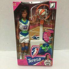 WNBA Basketball Barbie Doll Teresa Friend Liberty Team New Old Stock Barbie Sets, Mattel Barbie, Barbie Dolls, Vintage Barbie Clothes, Doll Clothes, Pink Streaks, Pink Doll, Wnba, Perfect Pink