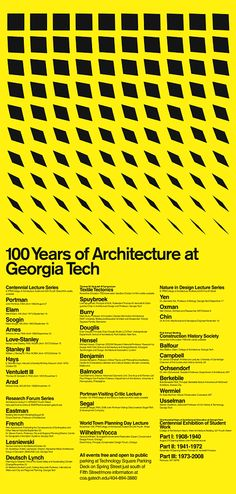 Really love the tradition of the architecture lecture series poster