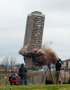 DEMOLITION: RED ROAD FLATS | BALORNOCK | GLASGOW | SCOTLAND: October 2015; Architect: Sam Bunton*
