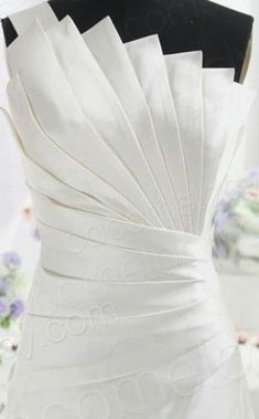 Chic A-Line One Shoulder Natural Cathedral Train Satin Ivory Sleeveless Zipper Wedding Dress with Ruched and Draped Stylish Dresses, Elegant Dresses, Cute Dresses, Fashion Dresses, Draping Techniques, Pattern Draping, Origami Fashion, Fashion Sewing, Fashion Fashion