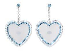 Tarina Tarantino Barbie® Heart Earrings White - Zappos.com Free Shipping BOTH Ways