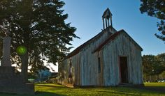 An old church in New Zealand.