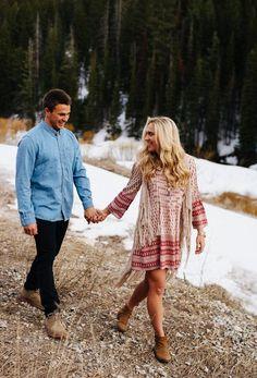 Mountain Engagement Session // Boho engagement session // Candid Engagement Session // Engagement photo outfits // Utah engagement session //  Destination wedding // Sugar Rush Photo + Video