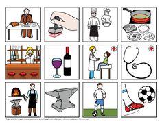 Povolání - co k sobě patří – (Mujblog.info v3.1) Toddler Crafts, Crafts For Kids, Picture Boards, Card Games, Game Cards, Classroom, Teaching, Words, Blog