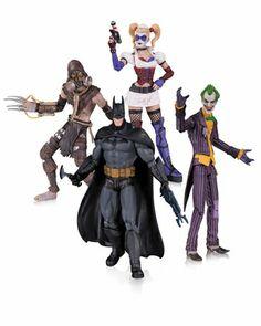 Batman Arkham Asylum Action Figure 4 Pack #arkhamasylum #batman alteregocomics.com