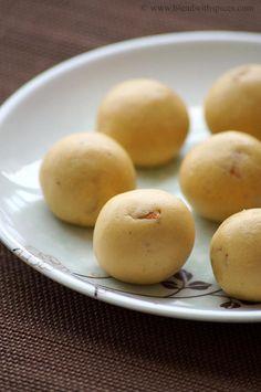 Roasted Gram Coconut Laddu Recipe ~ Krishna Jayanthi Recipes ~ Janmashtami Recipes | Indian Cuisine