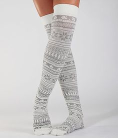 MUK LUKS Nordic Boot Socks - would look great with a golf skirt! Winter Wear, Autumn Winter Fashion, Winter Socks, Warm Socks, Cozy Winter, Winter Time, Look Fashion, Womens Fashion, Cute Socks