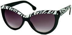 Black/Zebra Frame with Smoke Lenses Animal Print Cat Eye Sunglasses Katy Perry Sunglasses Efocus. $15.95. Save 13%!
