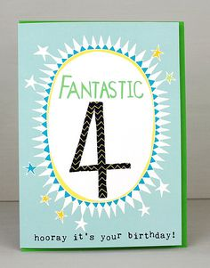 NEW 4th Birthday Cards For Boys by Molly Mae. I love this new range. You can also find the girls age range at Card Crush.