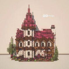 Casa Medieval Minecraft, Cute Minecraft Houses, Minecraft Castle, Minecraft Funny, Amazing Minecraft, Minecraft House Designs, Minecraft Blueprints, Minecraft Creations, Minecraft Crafts