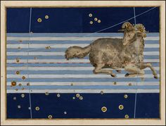 Aries from Rare Book: Johann Bayer's Celestial Atlas, Augsburg / 1603