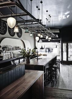 Nicky Adams in collaboration with PER Architects for Heart Attack and Vine TAS - The best cafe, restaurant and bar interiors of 2015 - Vogue Living Architecture Restaurant, Restaurant Interior Design, Interior Design Tips, Interior Decorating, Cafe Bar, Commercial Design, Commercial Interiors, Mein Café, Plafond Design