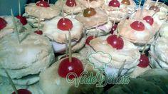 Tapaditos jamón de pavo, queso crema tomatito cherry