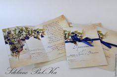 """Купить Приглашение на свадьбу """"Черничное настроение"""" - тёмно-синий, приглашения на свадьбу, приглашение, приглашение на свадьбу"""