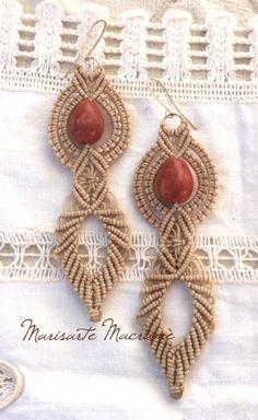 Un preferito personale dal mio negozio Etsy https://www.etsy.com/it/listing/486317917/red-earrings-macrame