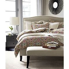 Lucia Full/Queen Duvet Cover in All Decorative Bedding | Crate and Barrel