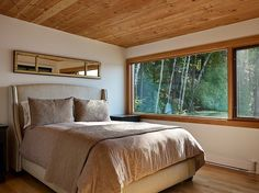 bedroom - Floating Cabin With Integrated Boathouse
