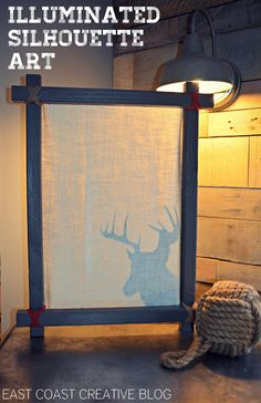 Illuminated Deer Art- DIY project perfect for winter and Christmas!