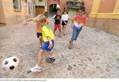Kids Playing Street Soccer [AFS-0391-00114] > Stock Photos ...