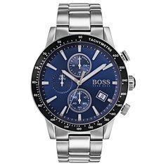 Hugo Boss Men's Chronograph Rafale Stainless Steel Bracelet Watch In Blue Hugo By Hugo Boss, Hugo Men, Hugo Boss Suit, Men's Watches, Hugo Boss Watches, Watches For Men, Nice Watches, Rolex Daytona, Audemars Piguet
