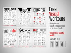 Free fun visual workouts