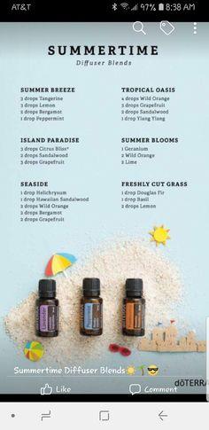 Essential Oil Mixtures, Summer Breeze, Diffuser Blends, Young Living Essential Oils, Bergamot, Grapefruit, Aromatherapy, Peppermint, Summertime