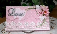 pretty money holder wedding or bridal shower card by Christina Griffiths