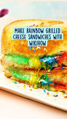 Fun Baking Recipes, Cooking Recipes, Rainbow Grilled Cheese, Gluten Free Deserts, Rainbow Food, Bisquick, Brisket, Kid Friendly Meals, Diy Food