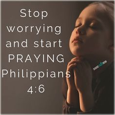 Bible Verses:Stop worrying and start praying. Prayer Verses, Prayer Quotes, Bible Verses Quotes, Encouragement Quotes, Bible Scriptures, Faith Quotes, Spiritual Quotes, Words Quotes, Sayings