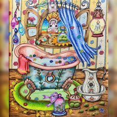 "AgnesP on Instagram: ""My picture from the new book. Klára Markova: Fairy Celebrations. #klaramarkovacoloringbook #pencils #pencilart #colouringbook #colouring…"""