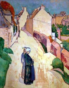 'Street in Saint Briac' - Émile Bernard  (1868-1941)