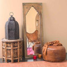 Spiegel geschnitzt aus Mangoholz und ...