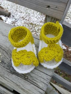 A personal favorite from my Etsy shop https://www.etsy.com/ca/listing/275445816/lime-crochet-baby-sandals