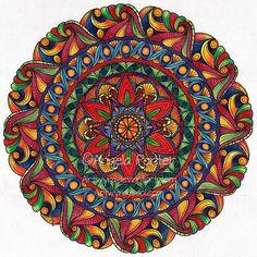 August Mandala 7 by Angela Porter