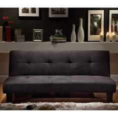NEW Microfiber Suede Mini Sofa Bed  Modern look and function, this futon serves for extra seating or converts to a guest bed. $183.99