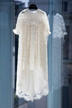 Baby Girl baptism dress in  lace by MariaArcieroCouture on Etsy, $275.00