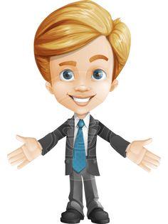 Business Cartoon Characters Vector | GraphicMama