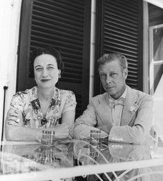"Edward Prince of Wales ""David"" & Wallis Simpson, now Duke & Dutchess of Windsor At La Coire."