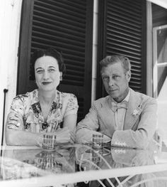 "Edward Prince of Wales ""David"" & Wallis Simpson, now Duke & Dutchess of Windsor At La Coire."